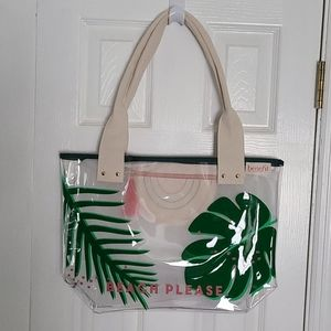 NEW Clear pvc double handled tote bag